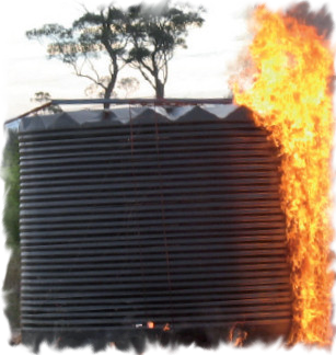 Plastic Tanks burn